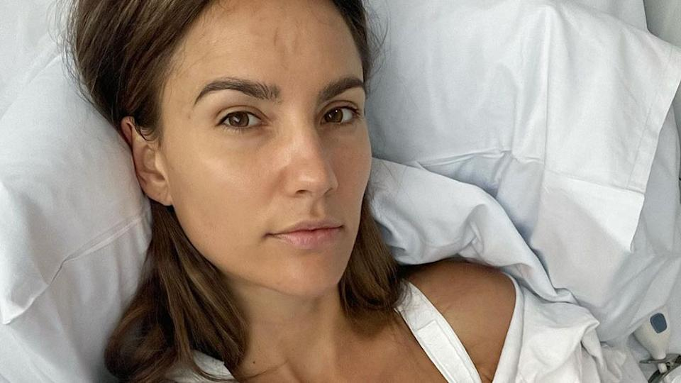 Rachael Finch has shared with her followers that she has removed her breast implants after one of them ruptured last week. Photo: Instagram/Rachael Finch
