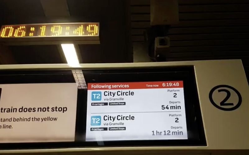 Delays in the CBD were nearly an hour at 6.19am. Source: Twitter/ _lead_salad