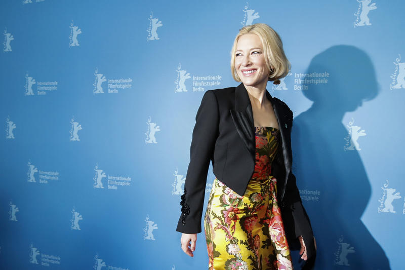 "Cate Blanchett arrives for the ""Stateless"" premiere during the 70th Berlinale International Film Festival Berlin at Zoo Palast on February 26, 2020 in Berlin, Germany. (Photo by Franziska Krug/Getty Images for AUDI AG)"