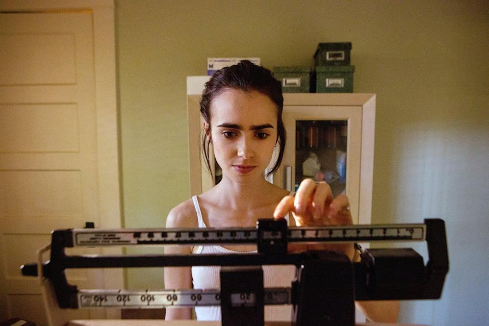 """<p>Lily Collins stars in <strong>To the Bone</strong> as Ellen, a 20-year-old struggling to cope with anorexia, despite years spent in recovery programs. This one definitely isn't easy to watch, but that's exactly what makes it so powerful. </p> <p><a href=""""http://www.netflix.com/title/80171659"""" class=""""link rapid-noclick-resp"""" rel=""""nofollow noopener"""" target=""""_blank"""" data-ylk=""""slk:Watch To the Bone on Netflix"""">Watch <strong>To the Bone</strong> on Netflix</a>. </p>"""