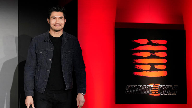 "Henry Golding attends the ""Snake Eyes"" event at the Hie-Jinja Shrine on January 10, 2020. (Photo by Christopher Jue/Getty Images for Paramount Pictures)"