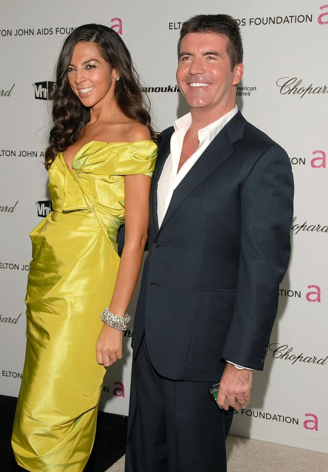 WEST HOLLYWOOD, CA - FEBRUARY 22:  TV personality Terri Seymour and Simon Cowell arrive at the 17th Annual Elton John AIDS Foundation's Academy Award Viewing Party held at the Pacific Design Center on February 22, 2009 in Hollywood, California.  (Photo by Mark Sullivan/WireImage)