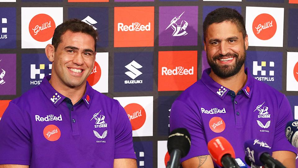 Pictured here, Melbourne Storm co-captains Jesse Bromwich and Dale Finucane.