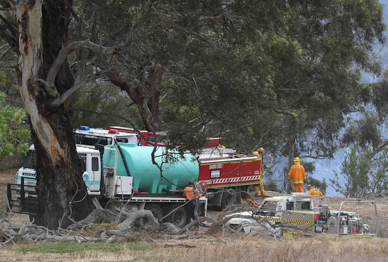 Severe weather conditions has put Victoria on high alert for bushfires on a day of total fire ban. AAP/Julian Smith