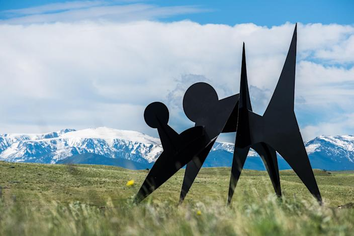 "This sprawling sculpture garden is worth the trip to the Beartooth Mountains in Fishtail, Montana. The <a href=""https://tippetrise.org/"" rel=""nofollow noopener"" target=""_blank"" data-ylk=""slk:Tippet Rise Art Center"" class=""link rapid-noclick-resp"">Tippet Rise Art Center</a> is a 12,000-acre ranch with 12 miles of trails, which are peppered with public art, including sculptures by Mark di Suervo, among others. This summer, the ranch will be open to those who are hiking or traveling by bike. ""Fewer people will be on the ranch, allowing an even more personal experience with the works of art,"" Tippet Rise cofounders Peter Halstead tells <em>AD</em>. ""What the pandemic has highlighted is the vital importance of outdoor spaces for respite and rejuvenation, it has also highlighted the crucial importance of a communal cultural life to our sense of well-being,"" cofounder Cathy Halstead tells AD. ""We hope that our guests who come to hike and bike will be able to find respite and community, while enjoying the wonderful synergy of the Montana landscape and the sculptures here."""