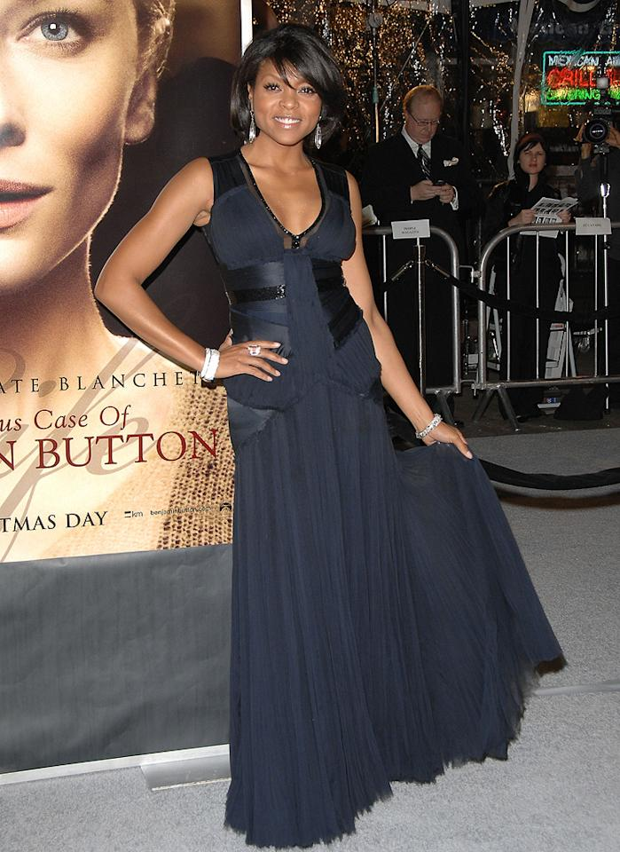 "<a href=""http://movies.yahoo.com/movie/contributor/1804514499"">Taraji P. Henson</a> at the Los Angeles premiere of <a href=""http://movies.yahoo.com/movie/1809785152/info"">The Curious Case of Benjamin Button</a> - 12/08/2008"