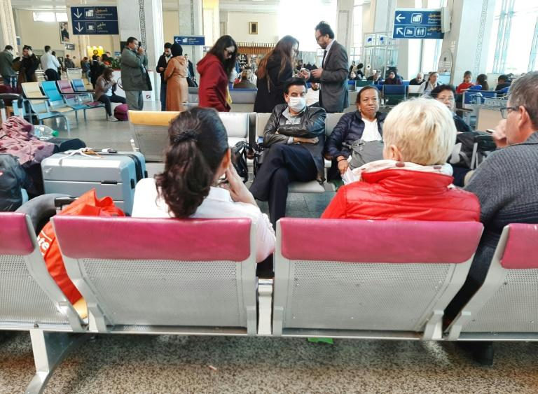 Passengers wait for flights at the Tangiers airport in northern Morocco (AFP Photo/-)