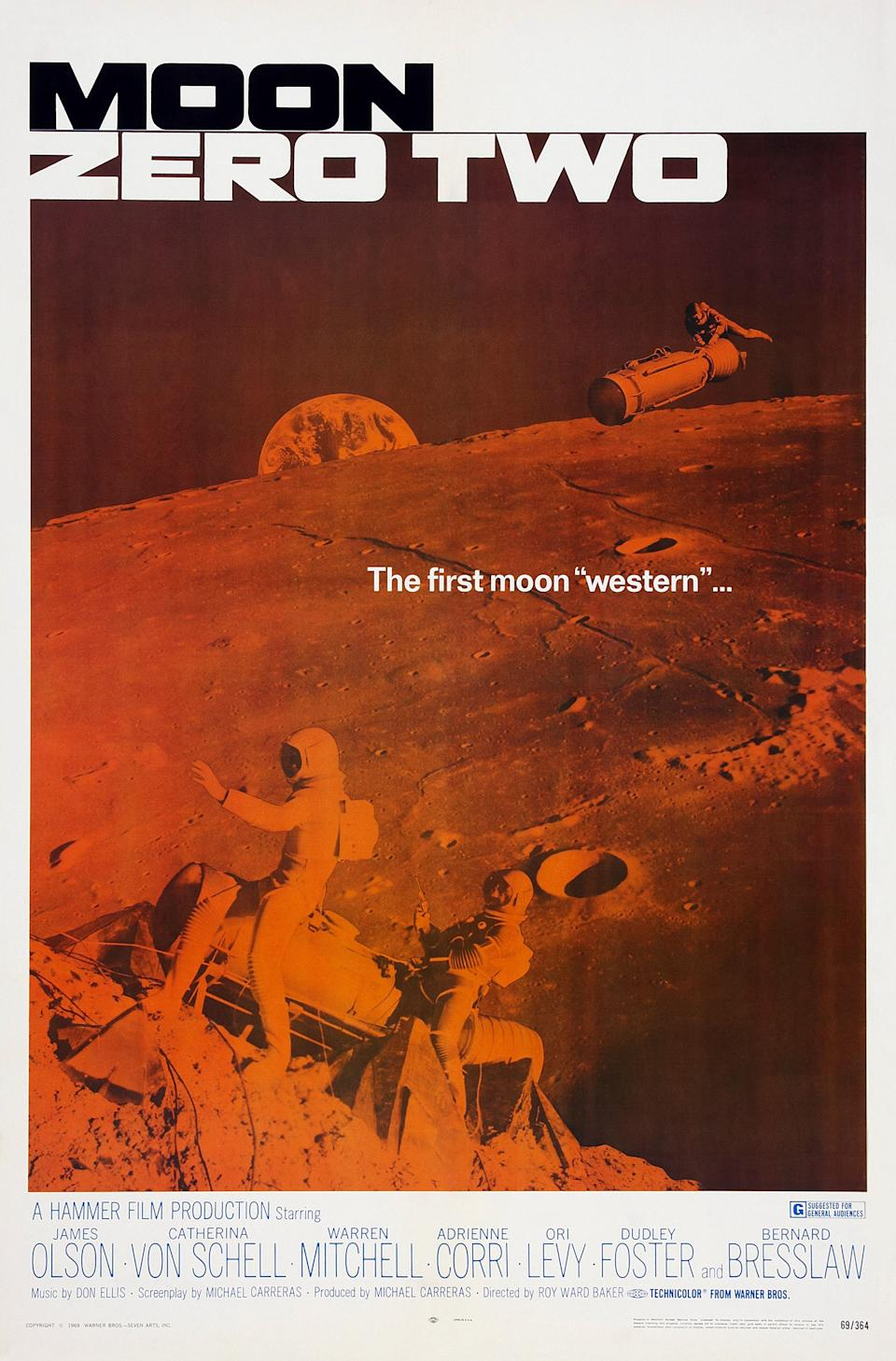 Moon Zero Two, poster, US poster art, 1969. (Photo by LMPC via Getty Images)
