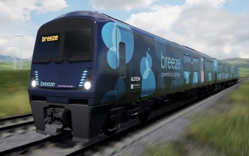 The 'Breeze' hydrogen fuel cell train could run on British rails in the next three years