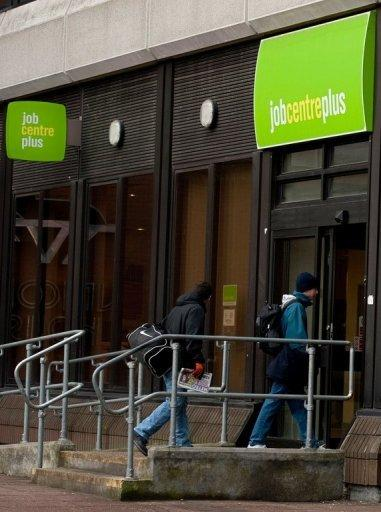 File picture shows a job centre in southeast England. The European Central Bank looks set to dig its heels in this week and refuse any more easy money for governments as the political resolve to rein in deficits shows signs of crumbling, analysts say