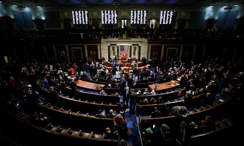 The US House of Representatives votes on the resolution, which sets up the next steps in the impeachment inquiry against Trump