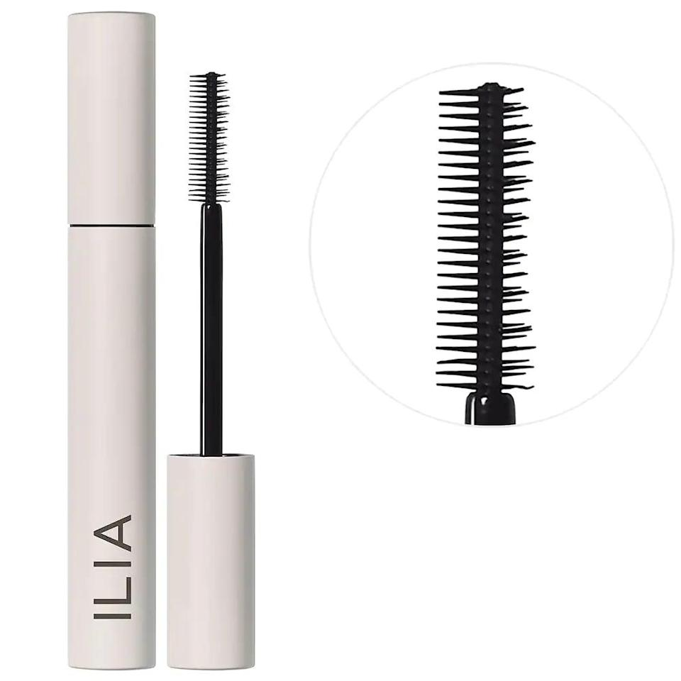 """<p>If you're looking for that """"your lashes but better"""" look, the <span>Ilia Limitless Lash Lengthening Mascara</span> ($28) is for you. It stays all day but is super lightweight, and you look that much more awake. I love it for every day.</p>"""