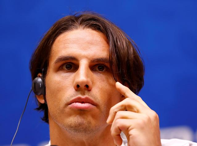 Soccer Football - World Cup - Switzerland Press Conference - Kaliningrad Stadium, Kaliningrad, Russia - June 21, 2018 Switzerland's Yann Sommer during the press conference REUTERS/Fabrizio Bensch