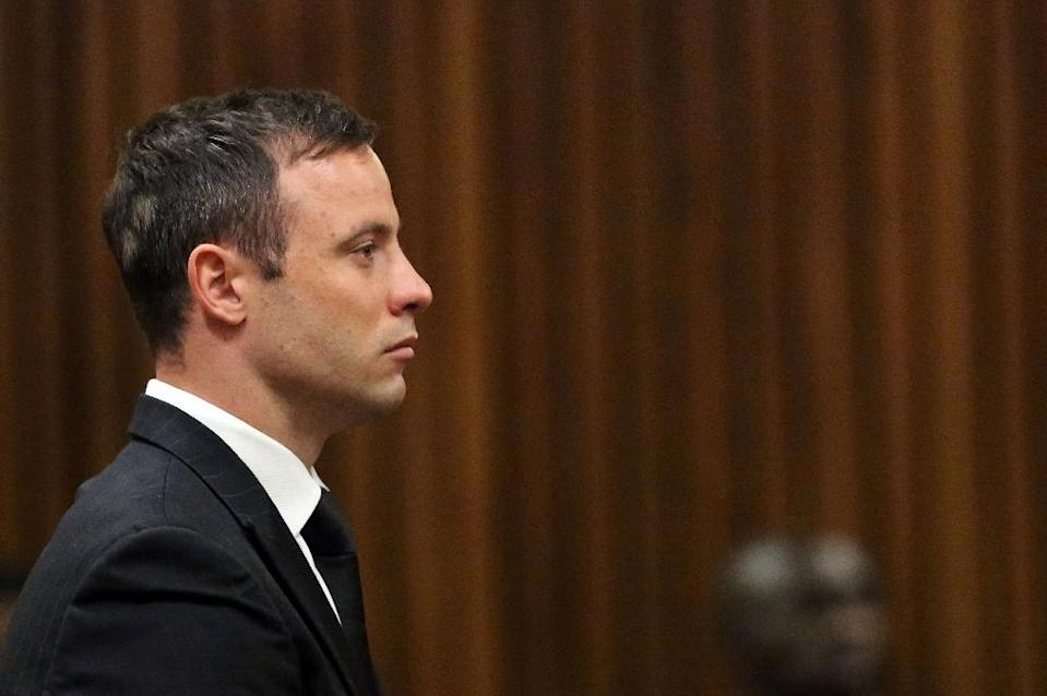 Oscar Pistorius was jailed last year after being convicted on the lesser charge of manslaughter over the 2013 killing of his girlfriend Reeva Steenkamp (AFP Photo/Themba Hadebe)