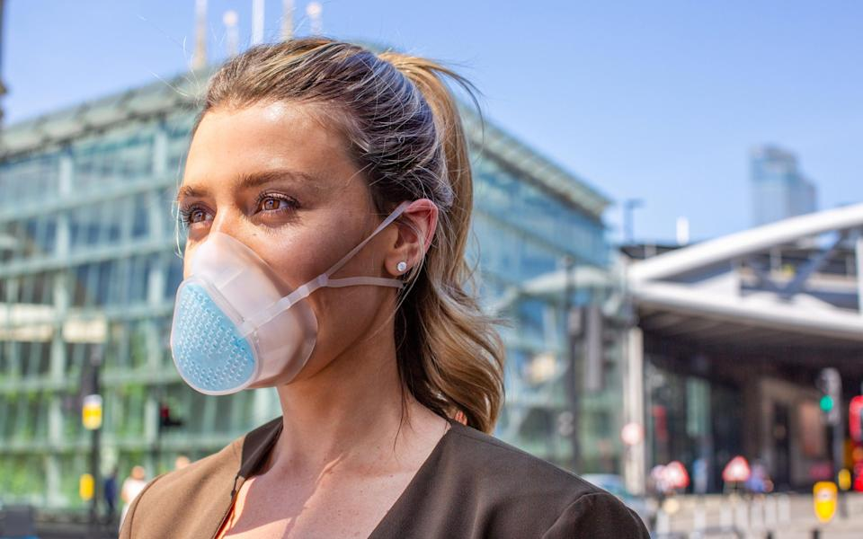 Breathe Happy's silicon mask has changeable filters - Breathe Happy