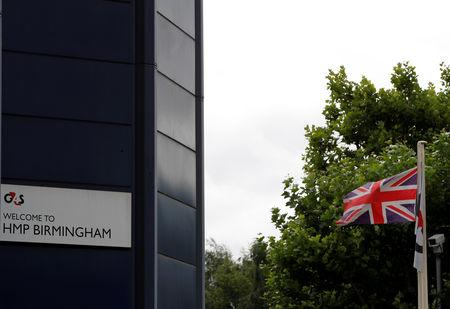 A Union flag flies outside HMP Birmingham after the British government took over its running from G4S, in Birmingham, Britain August 20, 2018.  REUTERS/Darren Staples
