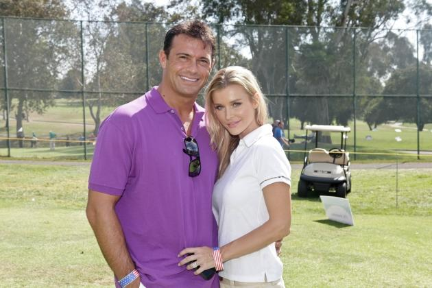 Romain Zago and Supermodel Joanna Krupa attend the Los Angeles Police Celebrity Golf Tournament at Rancho Park Golf Course on October 13, 2012 in West Los Angeles, California.  -- Getty Premium