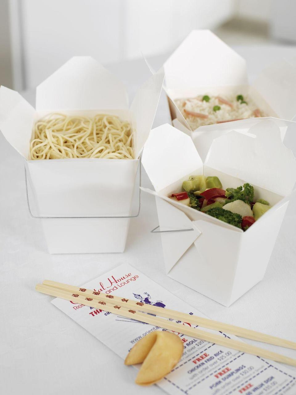 <p>Odds are your favorite Chinese food place has an online menu. Trash the papers, but keep the coupons. </p>