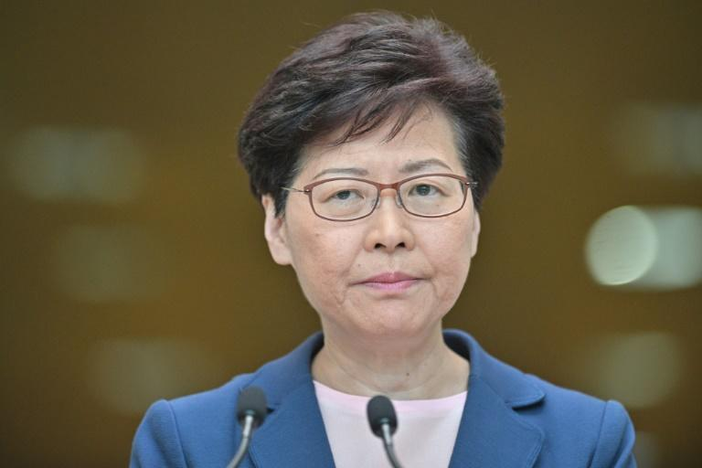 Protesters swiftly rejected Hong Kong leader Carrie Lam's latest comments (AFP Photo/Anthony WALLACE)