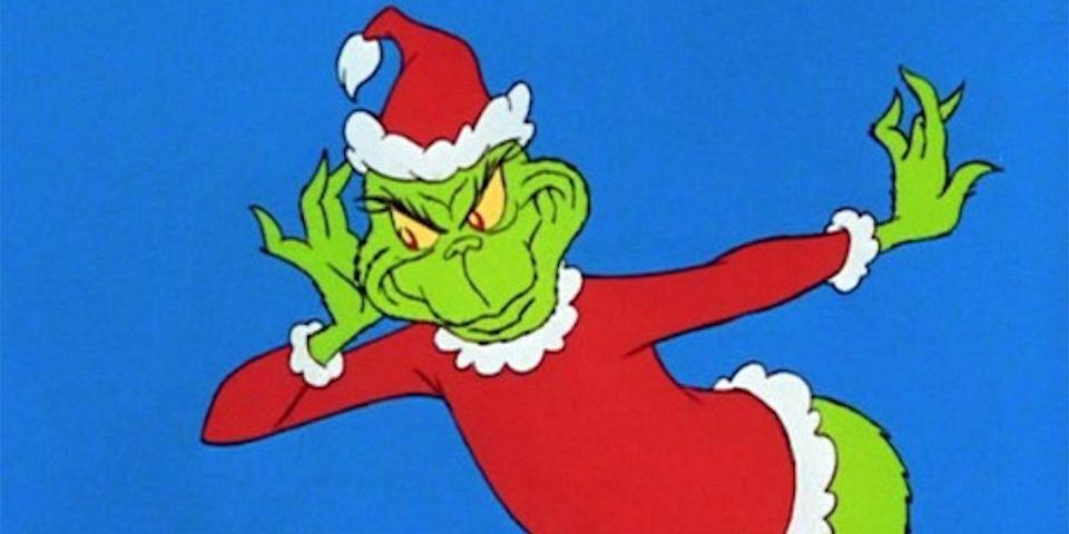 """<p>If you've found yourself with a frigid heart this holiday season, then a cranky green monster who discards his hate for Christmas is just what Dr. Seuss ordered. Fun fact: Seuss's Grinch was black and white with pink eyes. Chuck Jones made him <a href=""""http://www.ibtimes.com/why-grinch-green-mean-20-fun-trivia-facts-about-how-grinch-stole-christmas-2237343"""" rel=""""nofollow noopener"""" target=""""_blank"""" data-ylk=""""slk:green for the screen"""" class=""""link rapid-noclick-resp"""">green for the screen</a>.</p><p><em>Stream on amazon.com, $15 to buy.</em> <a class=""""link rapid-noclick-resp"""" href=""""https://www.amazon.com/Grinch-Stole-Christmas-Horton-Hears/dp/B001M6KTM0/?tag=syn-yahoo-20&ascsubtag=%5Bartid%7C10056.g.13149732%5Bsrc%7Cyahoo-us"""" rel=""""nofollow noopener"""" target=""""_blank"""" data-ylk=""""slk:WATCH"""">WATCH</a></p>"""