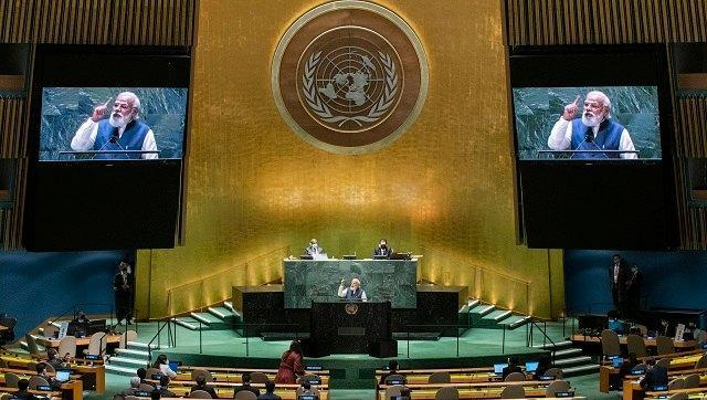 In a roughly 20-minute speech delivered in-person and in Hindi, Modi called upon the international community to help the women, children and minorities of Afghanistan and said that it was imperative the country not be used as a base from which to spread terror. AP