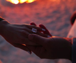 <p>Jennifer Lopez announced her impending marriage on Instagram with a hand selfie showcasing one of *the* biggest engagement rings in celebrity history. The rock was given to the singer by baseball legend A-Rod after approximately two years of dating, during a romantic beach proposal (complete with professional photographer). <em>[Photo: Instagram/Jennifer Lopez]</em> </p>