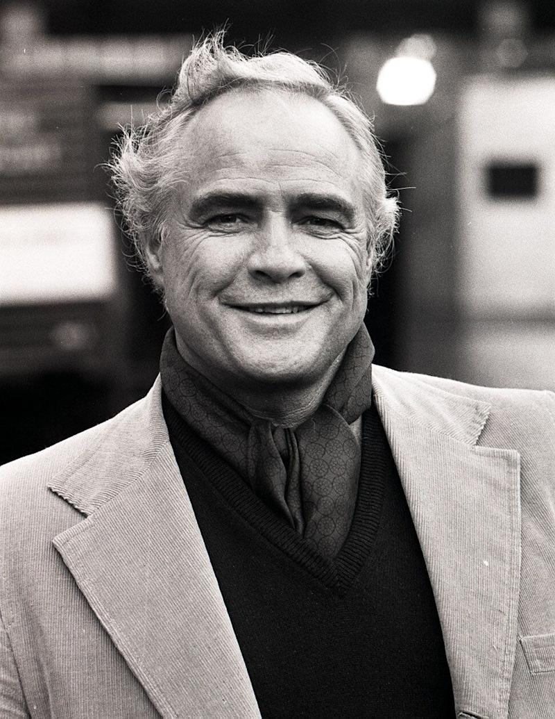 "American actor Marlon Brando, who had just finished filming his part in ""Superman"" at Shepperton, at the BBC Television Centre where he had given a press confrence. 02/07/2004 American actor Marlon Brando, who has died it was announced today Friday 2 July 2004."