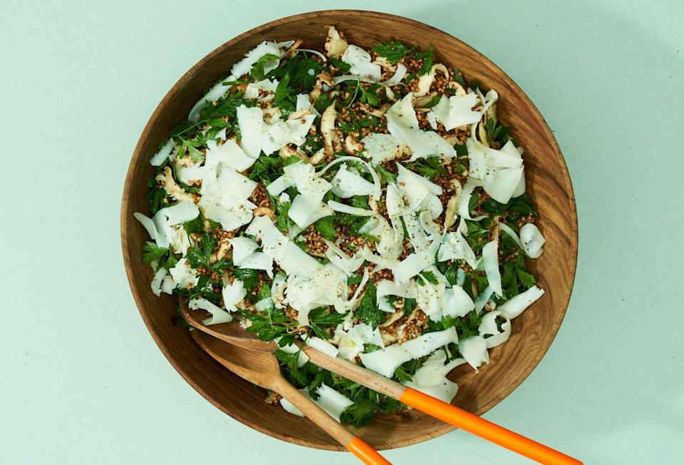 "<a href=""https://www.bonappetit.com/recipe/buckwheat-and-shiitake-mushroom-salad-with-gouda?mbid=synd_yahoo_rss"" rel=""nofollow noopener"" target=""_blank"" data-ylk=""slk:See recipe."" class=""link rapid-noclick-resp"">See recipe.</a>"