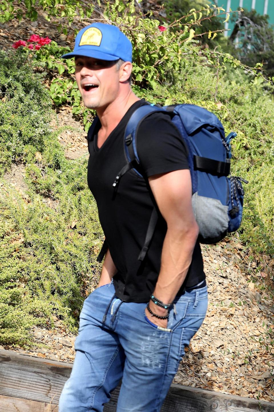 Josh Duhamel goes hiking after the news of his split from Fergie. (Photo: BACKGRID)