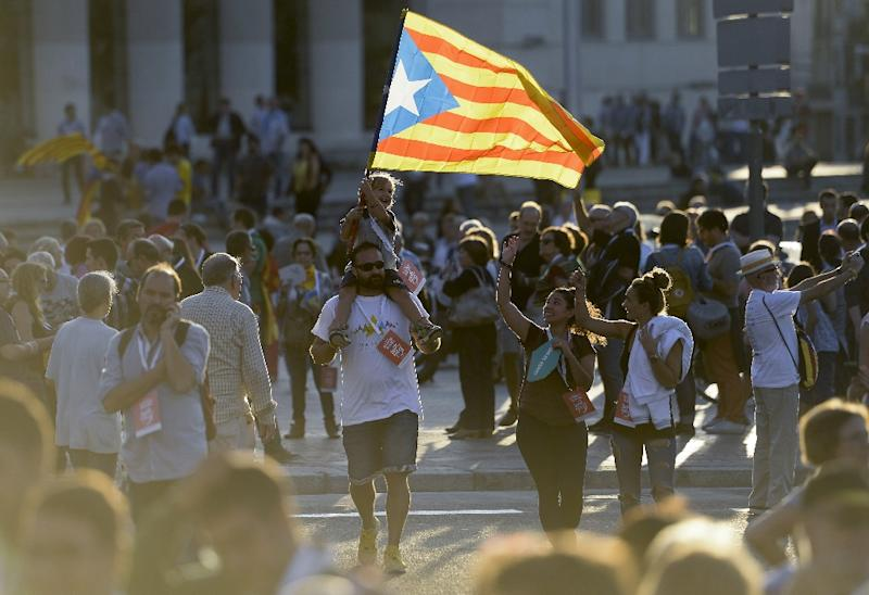 Polls show the support of the anti-capitalist Popular Unity Candidacy (CUP) under its lead candidate, journalist Antonio Banos, will be crucial for the pro-independence alliance to secure a majority in the regional parliament (AFP Photo/Josep Lago)