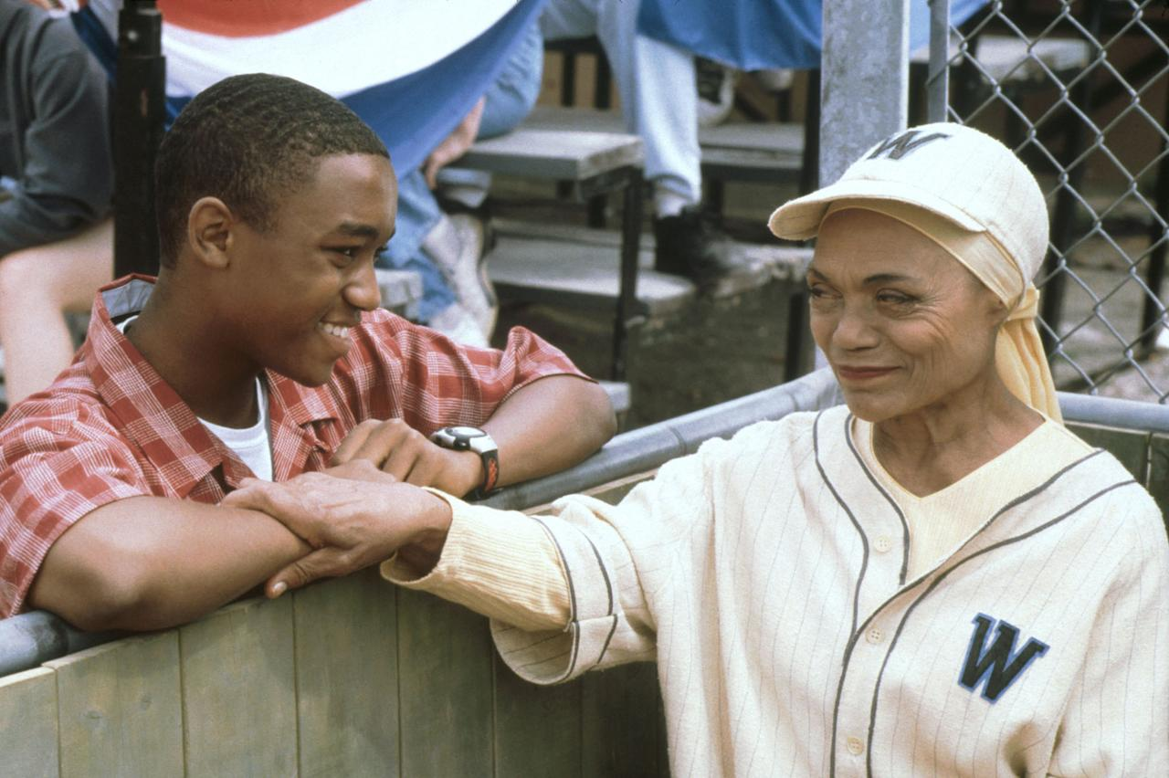 "Lee Thompson Young and Eartha Kitt in ""The Famous Jett Jackson"" episode, ""Field of Dweebs."""