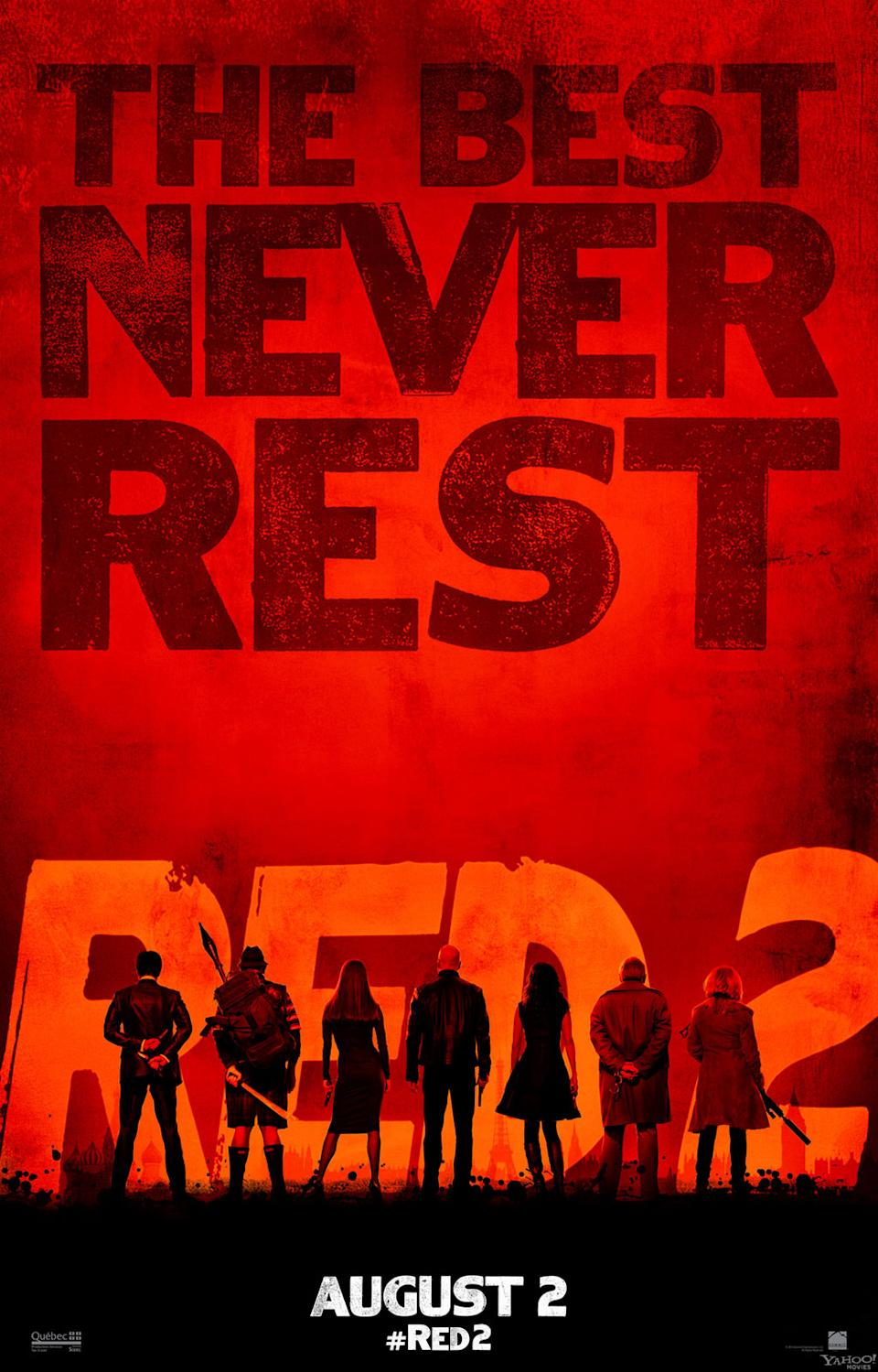 """""""The Best Never Rest"""" - Summit Entertainment's """"RED 2"""" - 2013<br><br> <a href=""""http://l.yimg.com/os/251/2013/02/11/Red2-finalteaser-fin5-theater-crop--jpg_172707.jpg"""" rel=""""nofollow noopener"""" target=""""_blank"""" data-ylk=""""slk:View full size >>"""" class=""""link rapid-noclick-resp"""">View full size >></a>"""