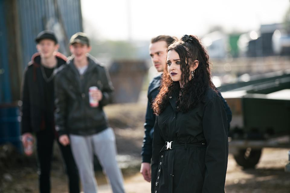 FROM ITV  STRICT EMBARGO - No Use Before Tuesday 27th April 2021  Coronation Street - Ep 10317  Wednesday 5th May 2021 - 1st Ep  A loved up Nina Lucas [MOLLIE GALLAGHER] and Seb Franklin [HARRY VISINONI] are walking along the canal when they come across the gang. When drunken Eli [LIAM SCHOLES] and Corey Brent [MAXIMUS EVANS] start making nasty jibes at Nina, Summer Spellman [HARRIET BIBBY] becomes uneasy and heads home. Egged on by Eli , Kelly Neelan [MILLIE GIBSON] slaps Nina across the face. As Seb and Nina hurry away, the gang gives chase and they find themselves subject to an unprovoked and vicious attack.  Picture contact David.crook@itv.com   Photographer - Danielle Baguley  This photograph is (C) ITV Plc and can only be reproduced for editorial purposes directly in connection with the programme or event mentioned above, or ITV plc. Once made available by ITV plc Picture Desk, this photograph can be reproduced once only up until the transmission [TX] date and no reproduction fee will be charged. Any subsequent usage may incur a fee. This photograph must not be manipulated [excluding basic cropping] in a manner which alters the visual appearance of the person photographed deemed detrimental or inappropriate by ITV plc Picture Desk. This photograph must not be syndicated to any other company, publication or website, or permanently archived, without the express written permission of ITV Picture Desk. Full Terms and conditions are available on  www.itv.com/presscentre/itvpictures/terms