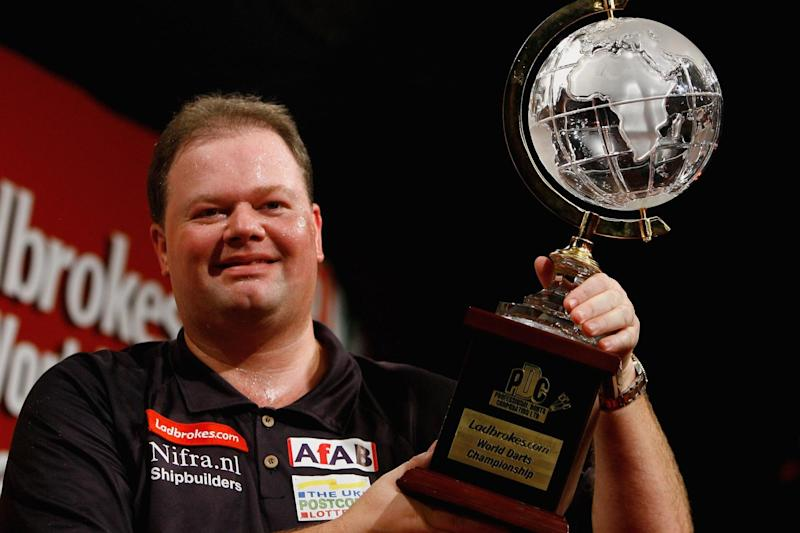 In happier times: Van Barneveld after winning the World Championship in 2007 (Getty Images) (Getty Images)