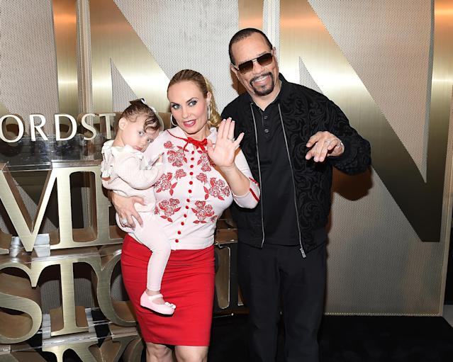 Coco Austin with husband Ice-T and their daughter, Chanel. (Photo: Nicholas Hunt/Getty Images)