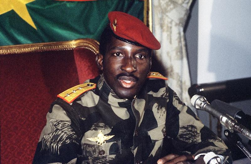Then president of Burkina Faso Thomas Sankara, pictured on February 7, 1986, was killed during a coup that brought his former military comrade Blaise Compaore to power (AFP Photo/Pascal George)