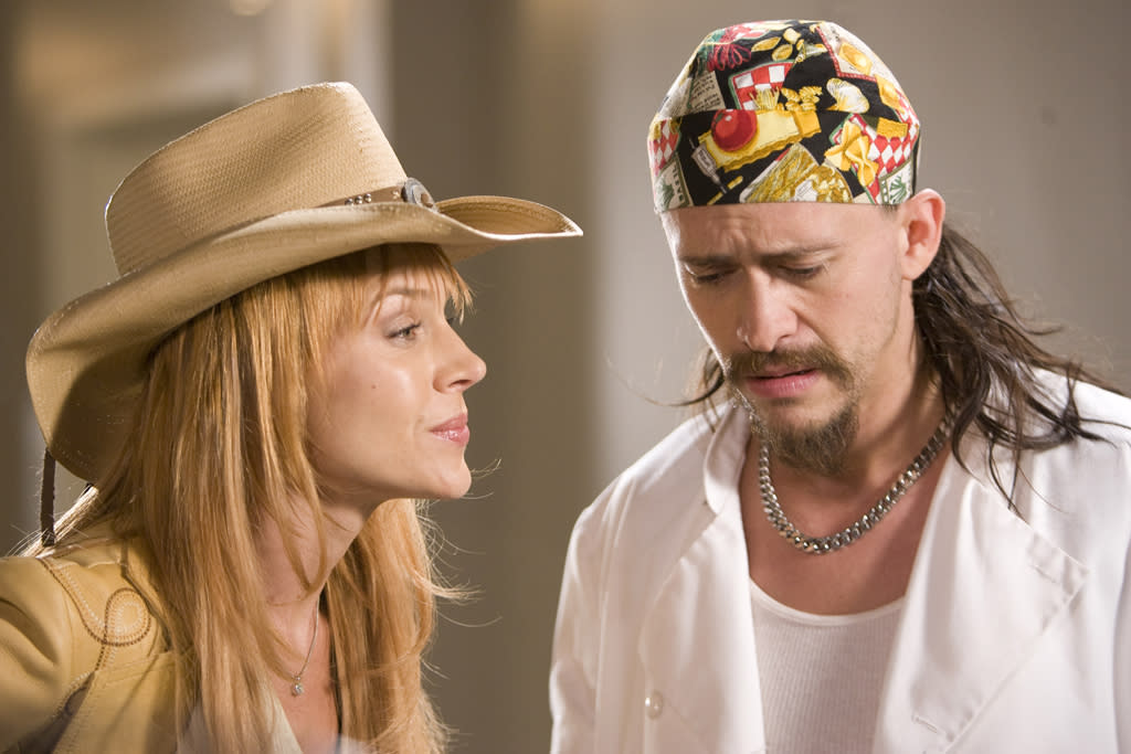 """<a href=""""http://movies.yahoo.com/movie/contributor/1800022679"""">Julie Benz</a> and <a href=""""http://movies.yahoo.com/movie/contributor/1800350330"""">Clifton Collins Jr.</a> in Apparition's <a href=""""http://movies.yahoo.com/movie/1810046633/info"""">The Boondock Saints II: All Saints Day</a> - 2009"""