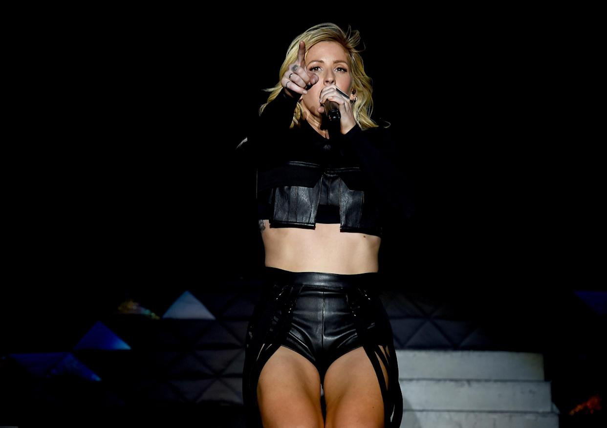 INDIO, CA - APRIL 22:  Singer Ellie Goulding performs onstage during day 1 of the 2016 Coachella Valley Music & Arts Festival Weekend 2 at the Empire Polo Club on April 22, 2016 in Indio, California.  (Photo by Kevin Winter/Getty Images for Coachella)