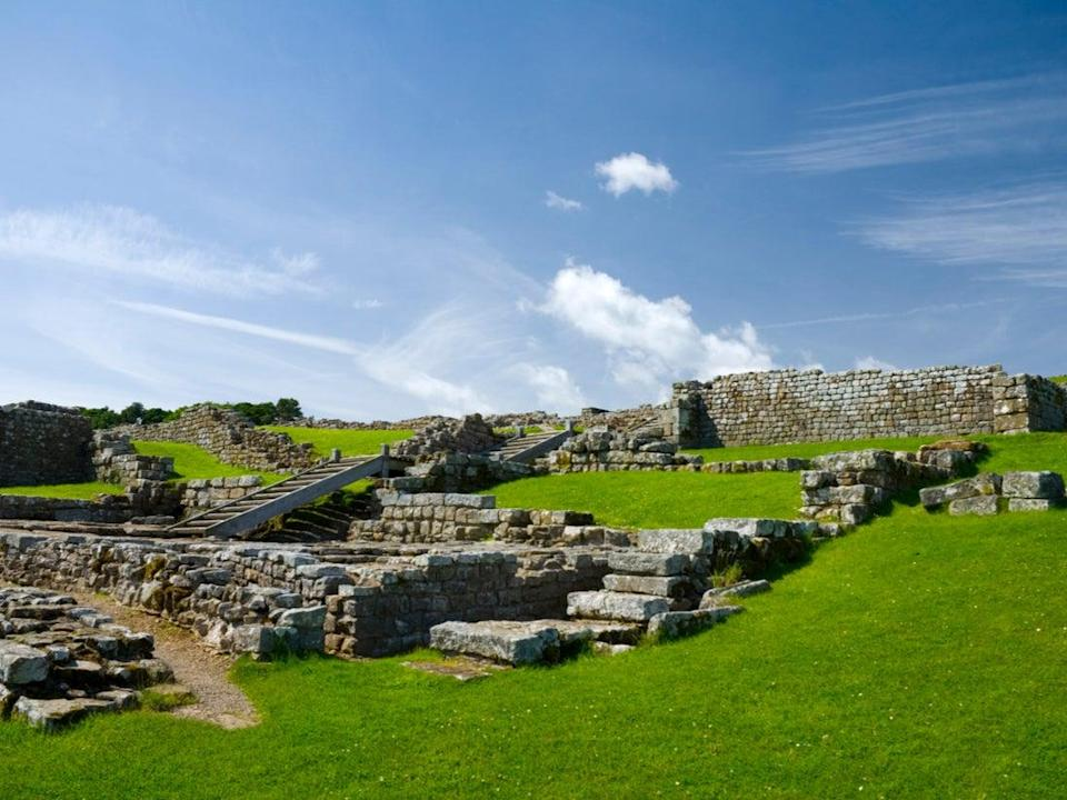 English Heritage is opening some of its outdoor spaces on 29 March, such as Housesteads  Roman fort (Getty Images/iStockphoto)