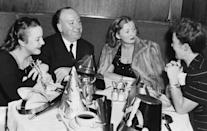 <p>The <em>Psycho </em>and <em>The Birds </em>director takes a break from producing chiller flicks to enjoy New Year's Eve with his family in 1959. </p>