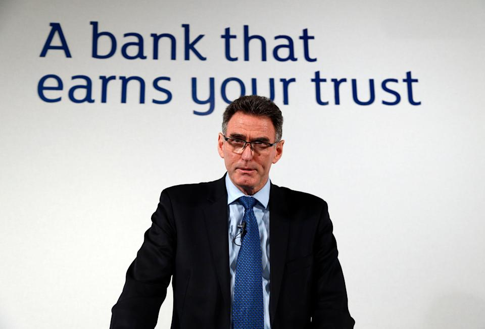 Ross McEwan, CEO of the Royal Bank of Scotland (RBS) speaks during a news conference in London, Thursday, Feb. 27, 2014. Taxpayer-owned Royal Bank of Scotland took a whopping 8.2 billion-pound ($13.7 billion) pre-tax loss for 2013 as it announced a new plan Thursday to transform itself, streamlining the bank to make it smaller and safer. (AP Photo/Lefteris Pitarakis)