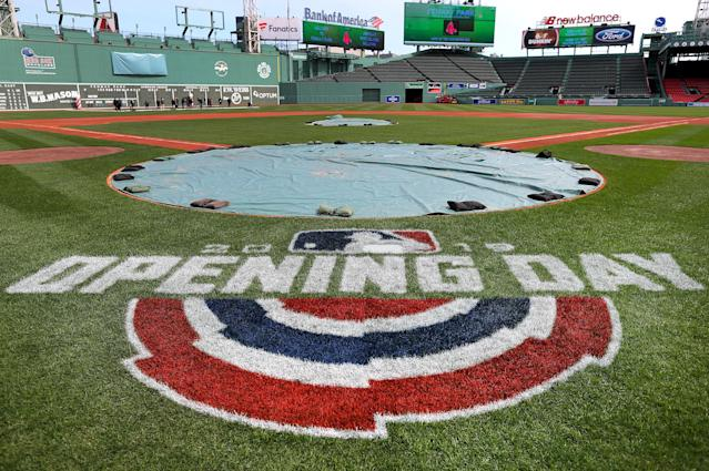 "MLB has announced plans for ""Opening Day at Home"" for what would have been opening day. (Photo by John Tlumacki/The Boston Globe via Getty Images)"