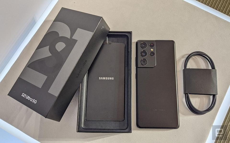 Samsung Galaxy S21 packing