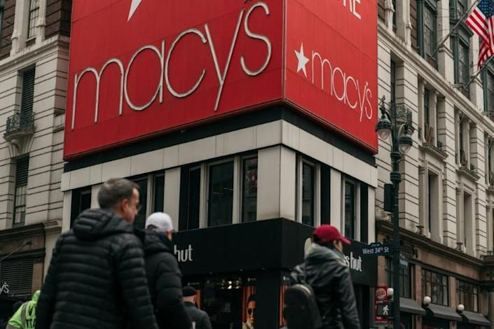Macy's is among the large retailers that have condemned racism after the killing of George Floyd, but the company was fined $650,000 in 2014 by New York state following a racial profiling investigation (AFP Photo/Scott Heins)