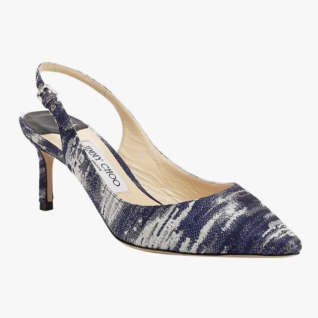 Jimmy Choo Erin kitten-heel pumps, $725, saks.com