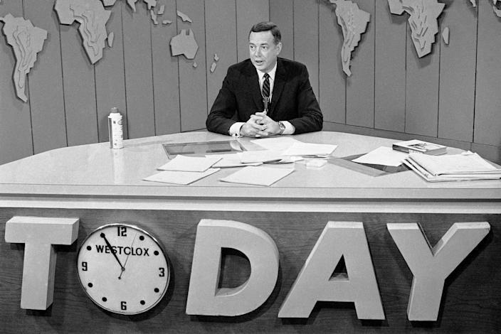 """Hugh Downs is shown on the """"Today"""" show on March 10, 1966. Downs was on the """"Today"""" show from 1962 to 1971."""