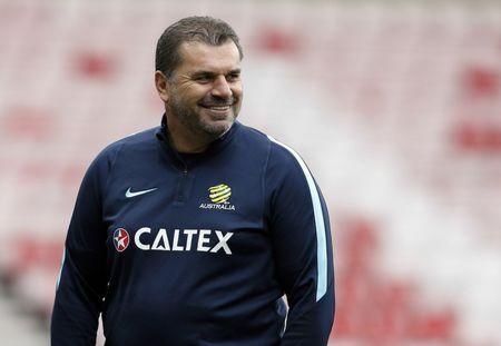 Britain Football Soccer - Australia Training - Stadium of Light, Sunderland - 26/5/16 Australia Head Coach Ange Postecoglou during training Action Images via Reuters / Ed Sykes Livepic