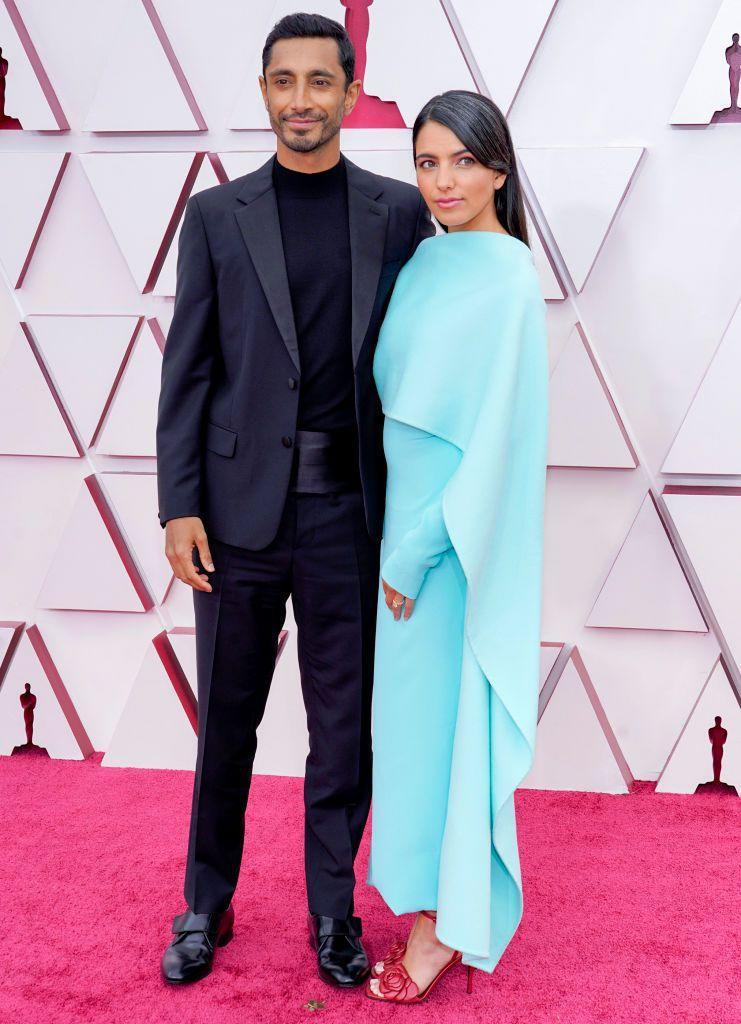<p>The Sound of Metal Best Actor nominee walked the red carpet accompanied by his new wife, author Fatima Farheen Mirza for the first time - both wearing Valentino.</p>