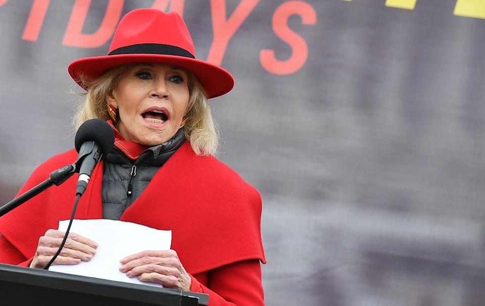 Jane Fonda speaks out about election day anxiety. (Photo: Getty Images)