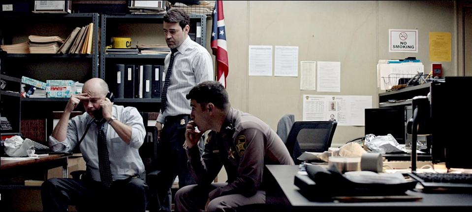 """<p>In this nonlinear thriller, a sheriff is trying to track down three bank robbery suspects: one of them is his own brother. </p> <p><a href=""""https://www.netflix.com/title/80103734?source=35"""" class=""""link rapid-noclick-resp"""" rel=""""nofollow noopener"""" target=""""_blank"""" data-ylk=""""slk:Watch Shimmer Lake on Netflix now."""">Watch <strong>Shimmer Lake</strong> on Netflix now.</a></p>"""